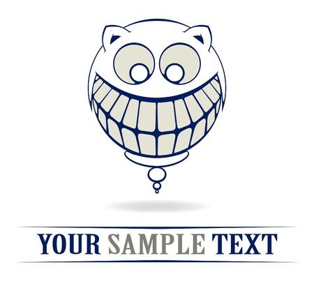 teeth crazy smile Vector