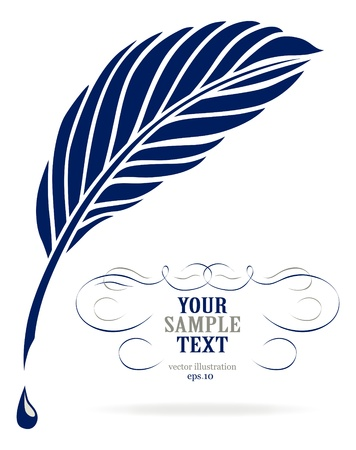 Ink feather pen Vector