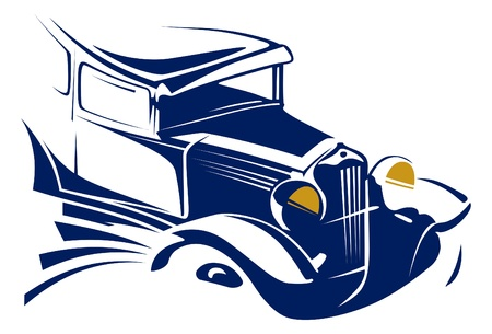 detail: vintage car emblem  Illustration
