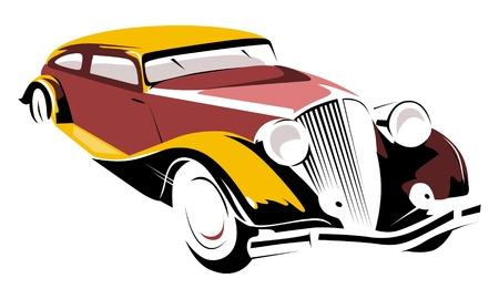 antique car: retro car