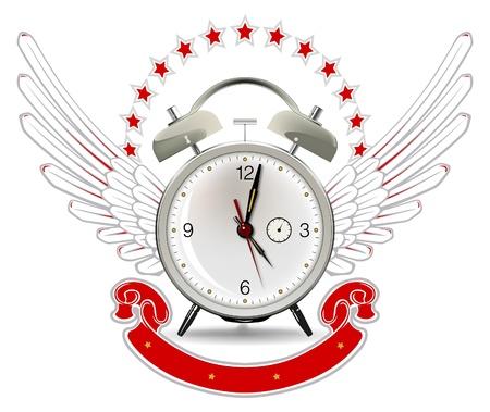 clock wing emblem Stock Vector - 9462895