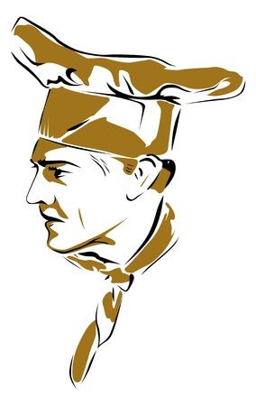 panadero: hombre de cocinar Vectores