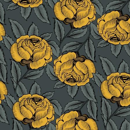 Fleur Rose Pattern Banque d'images - 9462891