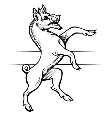 wild boar: heraldic boar