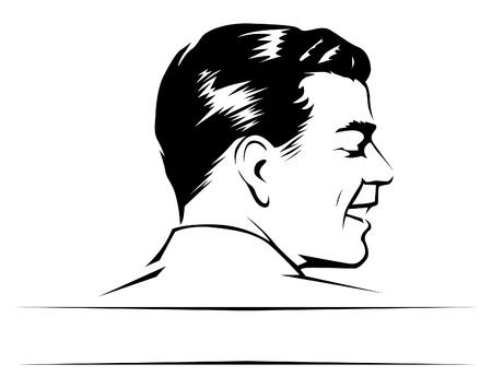 man face profile: cara de hombre adulto  Vectores