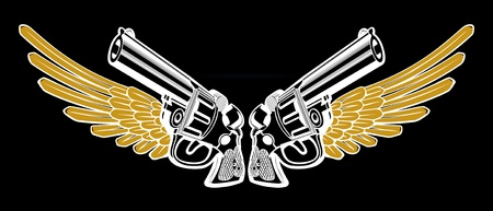 war decoration: gun emblem