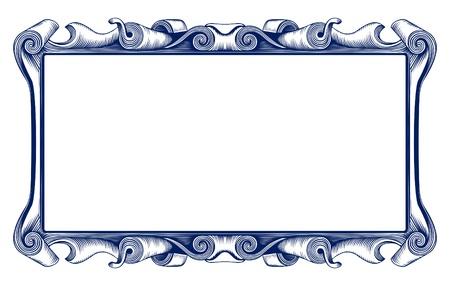 antique retro border Stock Vector - 9462876