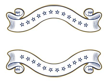 vintage ribbon emblem Vector