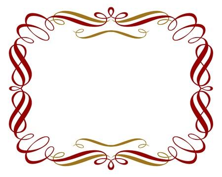 retro red gold border