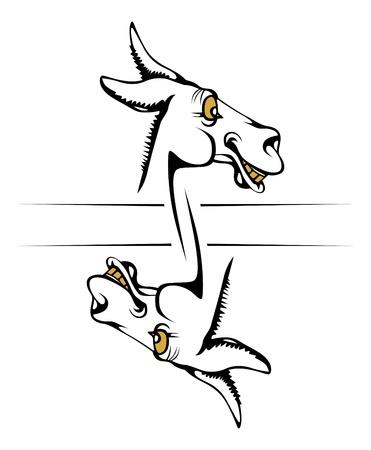 visage de sourire Donkey Vecteurs