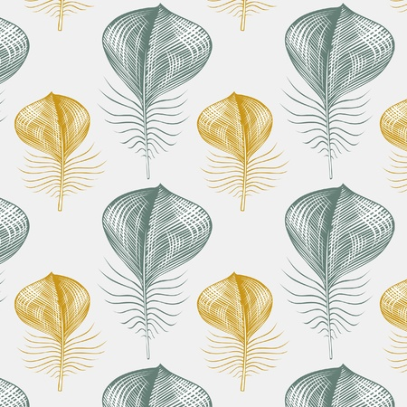 feather pattern background Vector