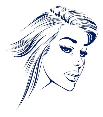 girl face Stock Vector - 9501325
