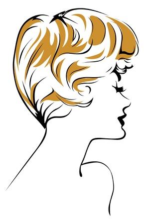 blond girl face