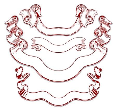 retro ribbon set  Stock Vector - 9501329