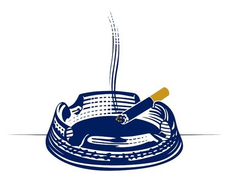 carcinogen: icono de grabado de Cenicero