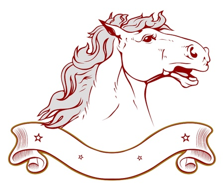 horse ranch emblem in light  Vector