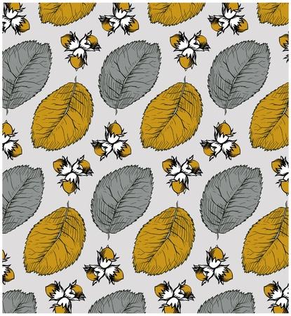 nut pattern Vector