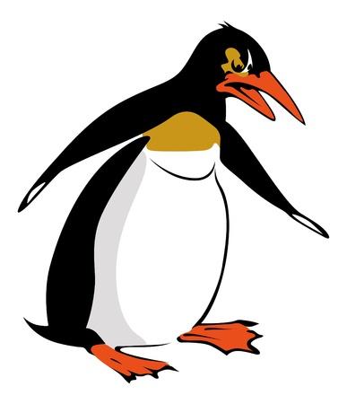pinguino caricatura: Ping�ino de dibujos animados Vectores