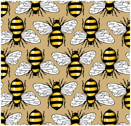 buzz: bee honey pattern