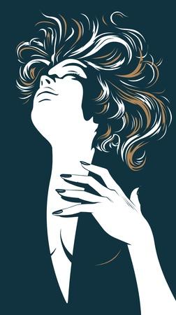 glamour pretty women silhouette Ilustração