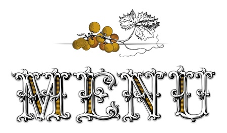 menu blank grapes Stock Vector - 9707122
