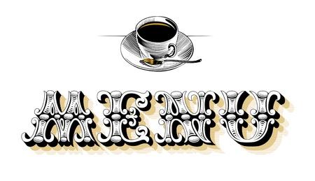 menu blank mug Vector