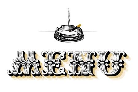 menu blank ashtray Vector
