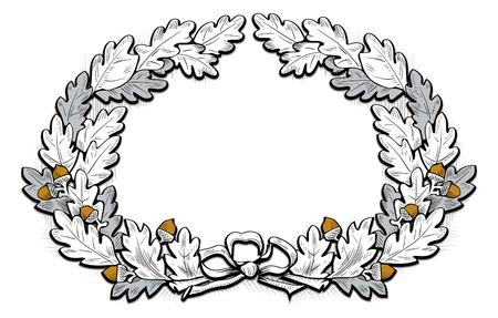 cartouche: acorn frame