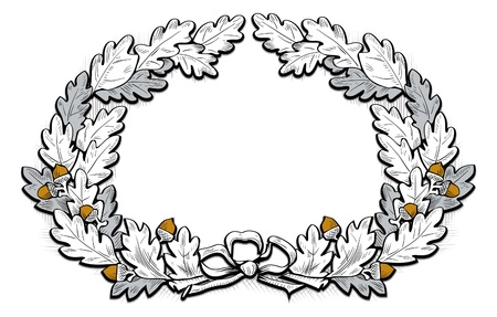 acorn frame Vector