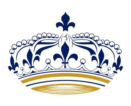 retro king crown Vector