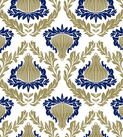 antique pattern background blue and green colours Illustration