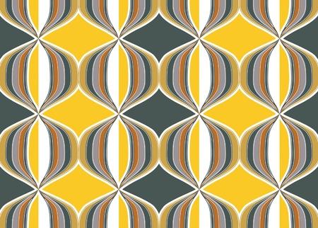 fabric samples: gold geometry ornate background Illustration