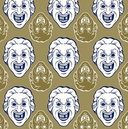 smile man face pattern in vector Stock Vector - 10338429