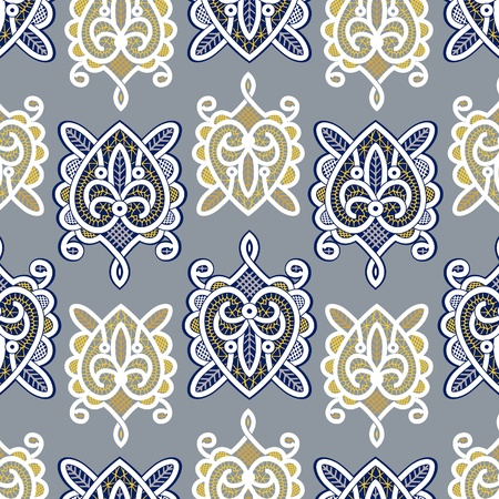 indian ocean: turtle lace background pattern