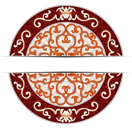 Tour d'Asie fleuri aux couleurs rouges Banque d'images - 10472700