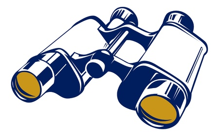 binoculars icon in basic vector style  Vector