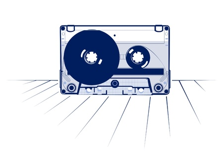 retro style of audio tape casette. Vector