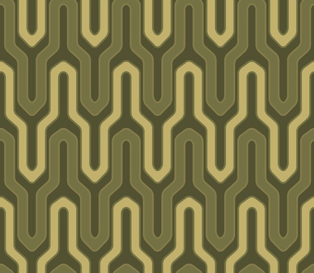line spiral pattern background in green and yellow colors Vector