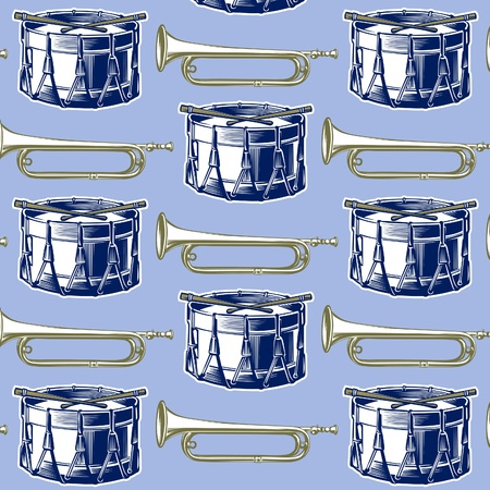 music jazz band background in retro engraving style  Vector