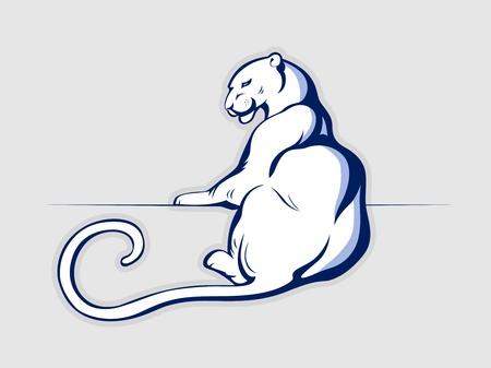 lion drawing: grosso animale selvatico gatto leopardo leone pantera Vettoriali