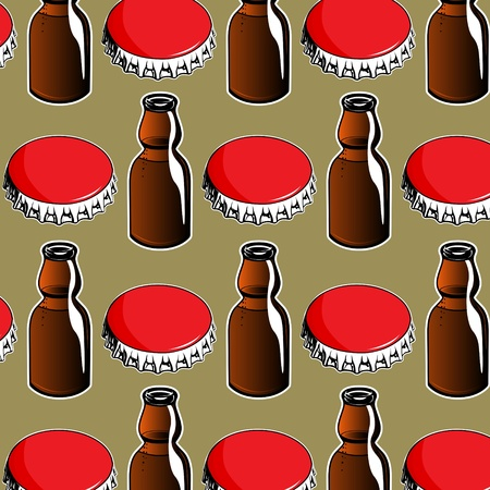 colas: steel red cover and glass bottle  background