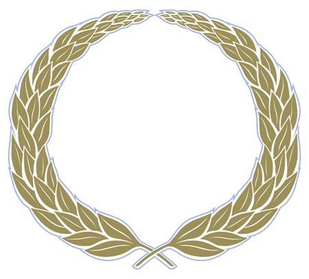 laurel leaf: deja el fondo del marco vintage de corona