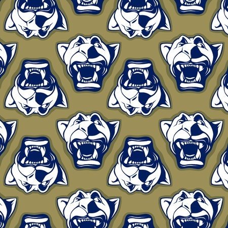 retro style of lion face background pattern Vector