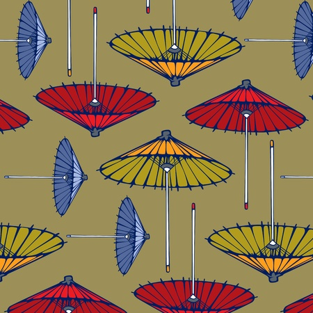 fall protection: retro style umbrella pattern background