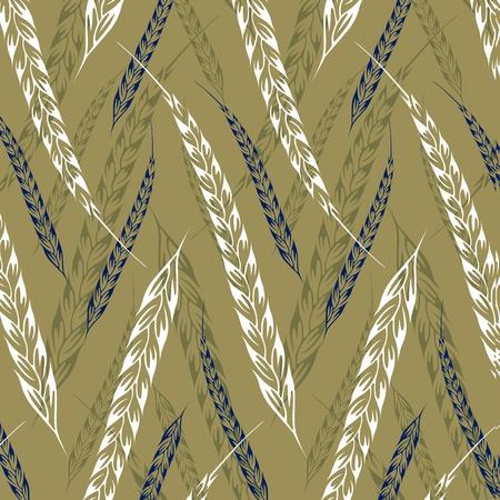 ear wheat pattern background Stock Vector - 10826297