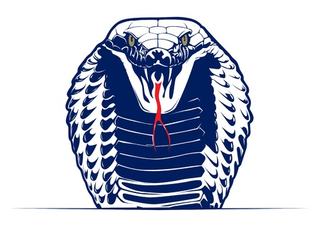 cartoon style cobra snake face  Illustration