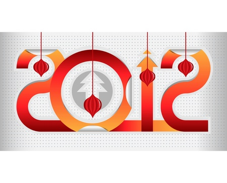red cool new year gift sign
