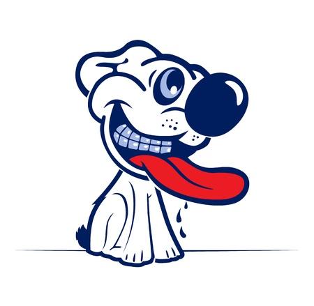 hostile: cartoon dog smile face Illustration