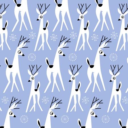 cartoon christmas deer background in vector Stock Vector - 11308530