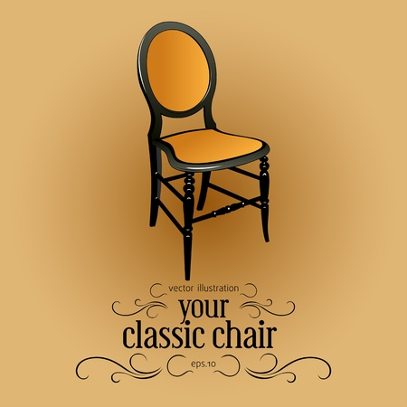 classic house: wood chair Illustration